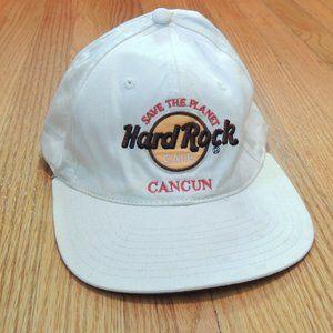 Hard Rock Cafe Cancun Vintage Strapback Hat Damage